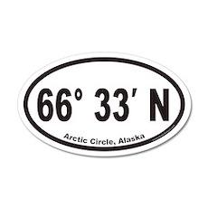 Arctic Circle Alaska Euro 20x12 Oval Wall Peel
