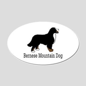 Bernese Mt. Dog 20x12 Oval Wall Peel