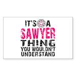 Sawyer Thing Sticker (Rectangle)