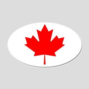 Canadian Maple Leaf 20x12 Oval Wall Peel