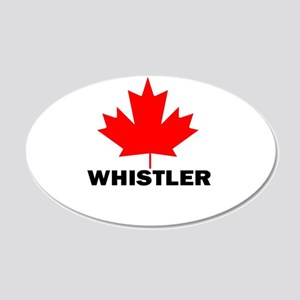 Whistler, British Columbia 20x12 Oval Wall Peel