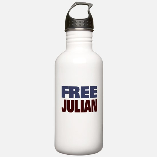 Free Julian Assange Water Bottle