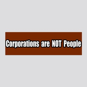 Corporations are not people 36x11 Wall Peel