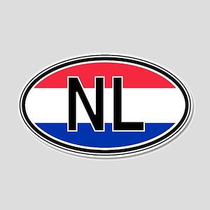 Netherlands Euro 20x12 Oval Wall Peel