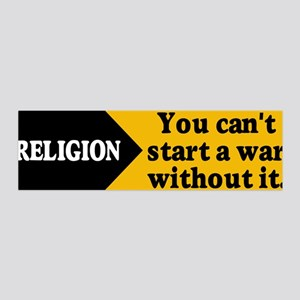 RELIGION WAR 36x11 Wall Peel