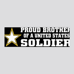 Proud Brother Soldier/blk 36x11 Wall Peel