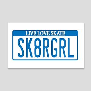 Skater Girl License 20x12 Wall Peel