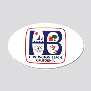Huntington Beach California 20x12 Oval Wall Peel