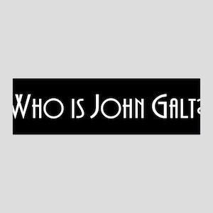 Who is John Galt? Atlas Shrugged 36x11 Wall Peel