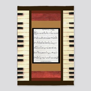 Piano Keys Side Borders Sheet Music 5'x7'a