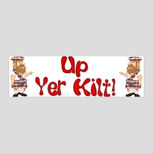 Scot Up Yer Kilt 36x11 Wall Peel