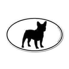 French Bulldog SILHOUETTE 20x12 Oval Wall Peel