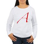 Atheist 'A' Women's Long Sleeve T-Shirt