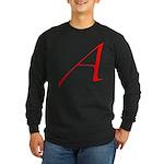 Atheist 'A' Long Sleeve Dark T-Shirt