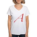 Atheist 'A' Women's V-Neck T-Shirt