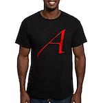 Atheist 'A' Men's Fitted T-Shirt (dark)