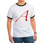Atheist 'A' Ringer T
