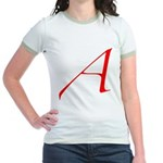 Atheist 'A' Jr. Ringer T-Shirt