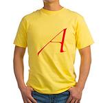 Atheist 'A' Yellow T-Shirt