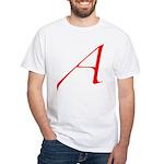 Atheist 'A' White T-Shirt