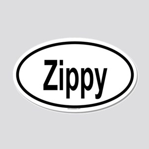 ZIPPY 20x12 Oval Wall Peel