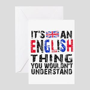 English Thing Greeting Card