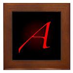 Atheist 'A' Framed Tile