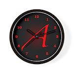 Atheist 'A' Wall Clock