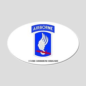 173rd Airborne Brigade 20x12 Oval Wall Peel
