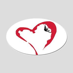 Heart Climber 20x12 Oval Wall Peel
