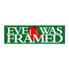 EVE WAS FRAMED 36x11 Wall Peel
