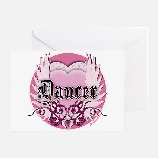 Dancer with Heart by DanceShirts.com Greeting Card