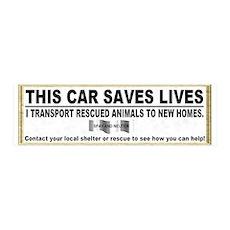 """This car saves lives"" 36x11 Wall Peel"