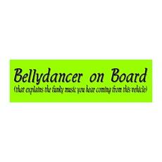 Bellydancer on Board 36x11 Wall Peel