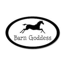 Barn Goddess - 20x12 Oval Wall Peel