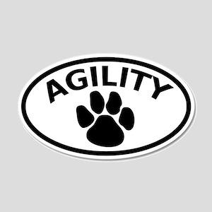 Dog Agility Paw 20x12 Oval Wall Peel