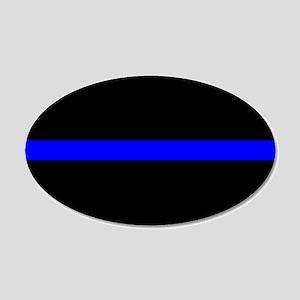 Thin Blue Line 20x12 Oval Wall Peel