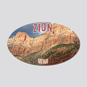 Zion National Park 20x12 Oval Wall Peel