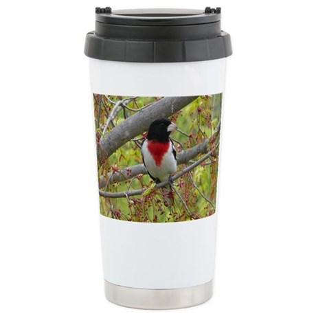 Rose-breasted Grosbeak Stainless Steel Travel Mug