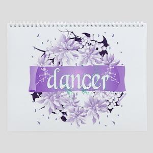Crystal Violet Dancer Wreath Wall Calendar