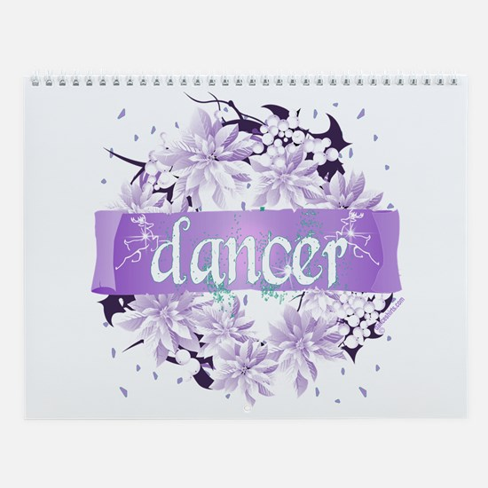 Crystal Violet Dancer Wreath Wall Calendar
