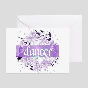 Crystal Violet Dancer Wreath Greeting Card