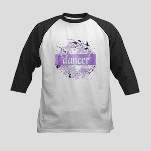 Crystal Violet Dancer Wreath Kids Baseball Jersey