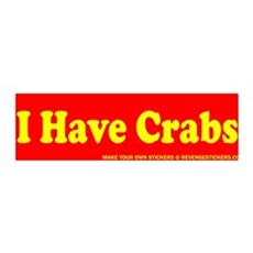 I Have Crabs - Revenge Sticker