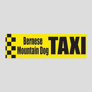 Bernese Mountain Dog Taxi 36x11 Wall Peel