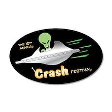Roswell Crash Festival 20x12 Oval Wall Peel