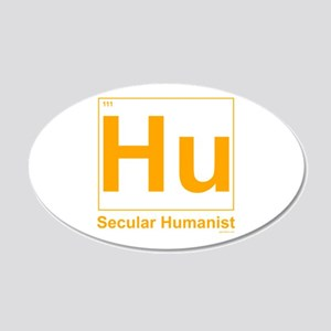 Secular Humanist 20x12 Oval Wall Peel