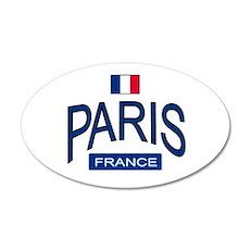 Paris France 20x12 Oval Wall Peel