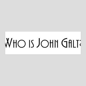 Who is John Galt? Atlas Shrug 36x11 Wall Peel