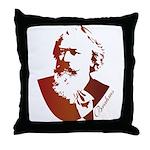 Brahms Composer Silhouette Throw Pillow
